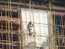 Construction workers in the construction Royalty Free Stock Images