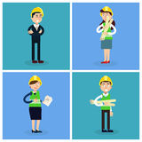 Construction Workers - Engineer and Project Manager. Construction Workers. Engineer and Project Manager. Construction Engineering. Vector illustration Stock Image