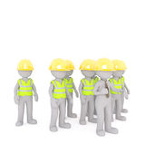 Construction workers and foreman concept Royalty Free Stock Photo
