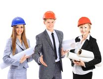 Construction workers group Royalty Free Stock Images
