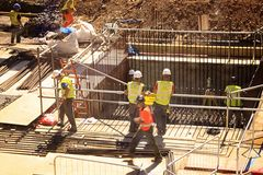 Construction Workers London Stock Image