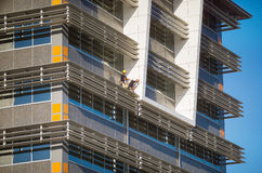 Construction workers on new building Stock Image