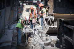 Construction workers in New York City Royalty Free Stock Images