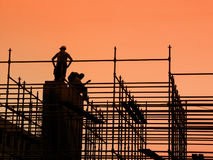 Free Construction Workers On Scaffolding Stock Image - 906321
