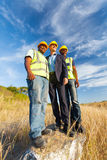Construction workers outdoors Royalty Free Stock Photo