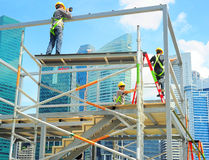 Construction workers, Singapore Royalty Free Stock Images