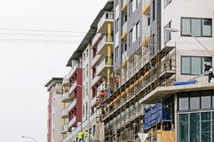 Construction Workers on site at 47 Beane St. Gosford. March, 2019. Building update ed221 royalty free stock photography