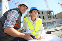 Construction workers on site Stock Image