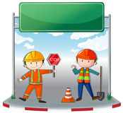 Construction workers at site Royalty Free Stock Photo
