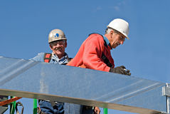Construction Workers with Sky Stock Images
