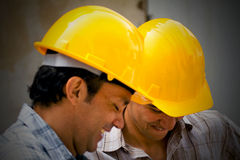Construction workers smiling Stock Photos