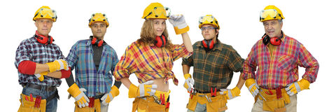 Construction workers team Royalty Free Stock Image