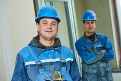 Construction workers team Stock Photography
