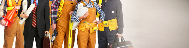 Construction workers team Royalty Free Stock Photos