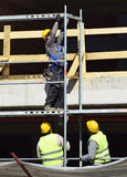 Construction workers at work Stock Photography