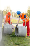 Construction workers during work Royalty Free Stock Images