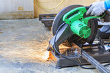 Construction working with cutting grinder Royalty Free Stock Photos