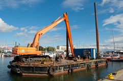 Construction works in Gdynia harbor Royalty Free Stock Photography