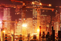 Construction works of the Hong Kong Royalty Free Stock Image