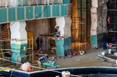 Construction works, interior finishing Stock Photography