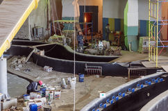 Construction works, interior finishing Royalty Free Stock Photo