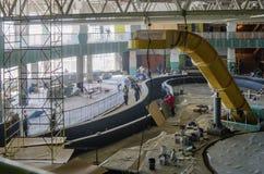 Construction works, interior finishing Stock Photos