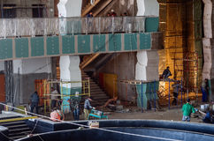 Construction works, interior finishing Royalty Free Stock Images
