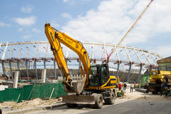 Construction works of Kyiv's Olympic stadium Royalty Free Stock Photos