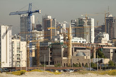 Construction works, Lebabon. Construction works in Beirut, Lebanon Stock Photo