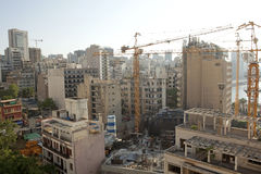 Construction works, Lebabon. Redevelopment of Beirut Central area, Lebanon Royalty Free Stock Photos