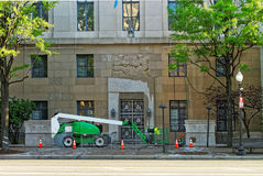 Construction works near the Federal Trade Commission Building Royalty Free Stock Images