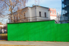 Construction works in Novodevichy convent in Moscow Stock Image