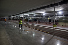 Construction works of the Rio Metro to the Olympics 2016 Stock Image