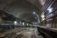 Construction works of the Rio Metro to the Olympics 2016 royalty free stock photo