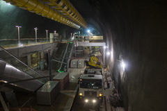 Construction works of the Rio Metro to the Olympics 2016 Stock Photo