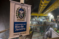 Construction works of the Rio Metro to the Olympics 2016 Royalty Free Stock Images