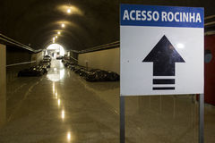 Construction works of the Rio Metro to the Olympics 2016 Royalty Free Stock Photos