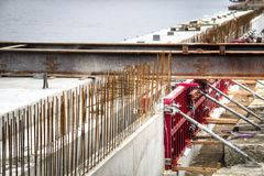 Construction works at the Schelde docks in Antwerp, Belgium Royalty Free Stock Photos
