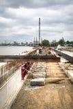 Construction works at the Schelde docks in Antwerp, Belgium Stock Image