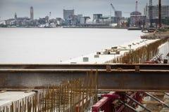 Construction works at the Schelde docks in Antwerp, Belgium Stock Photo