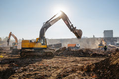 Construction works Stock Image