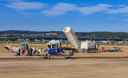 Construction works in the Zurich Airport Royalty Free Stock Images