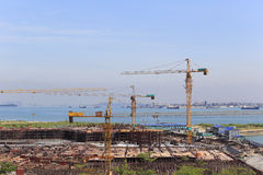 Construction of wutong pier Royalty Free Stock Images