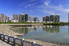 Construction of wuyuanwan living area Royalty Free Stock Photo