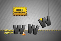 Construction of WWW. Vector illustration of construction of WWW with cone Stock Photo