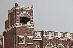Construction yéménite traditionnelle Photo stock