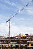 Construction yard with crane Royalty Free Stock Photography