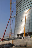 Construction yard of the Hadid Tover at Citylife; Milan Stock Images