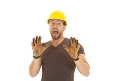 Construction yell Stock Photo