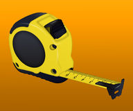 Construction  yellow measuring tape on white background Royalty Free Stock Photo